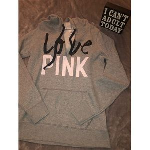 VS PINK Grey Oversized Pullover (Large)